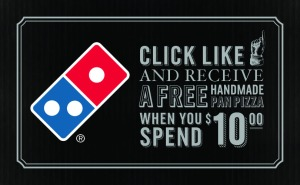 Dominos' Free Medium Pan Pizza