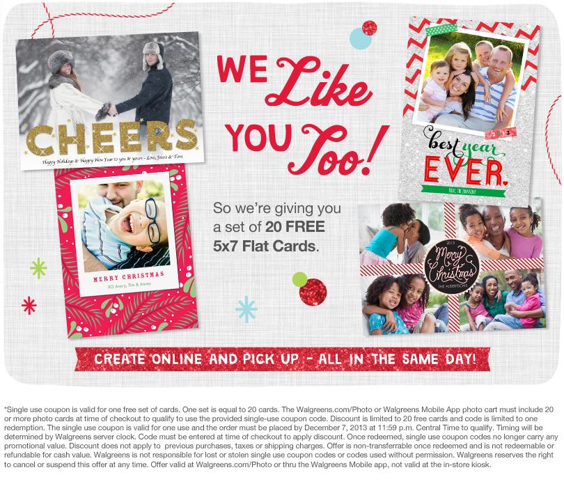 Walgreens Holiday Cards xp72dJLZ